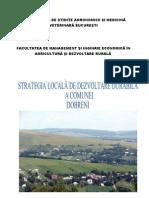 Strategia Locala de Dezvoltare Durabila a Comunei Dobreni