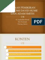 Analisis Pemikiran Ekonomi David Hume Dan Adam Smith