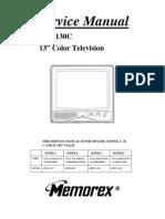 Memorex Mt1130c tv service manual