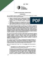 Acuerdo Ministerial 12 582