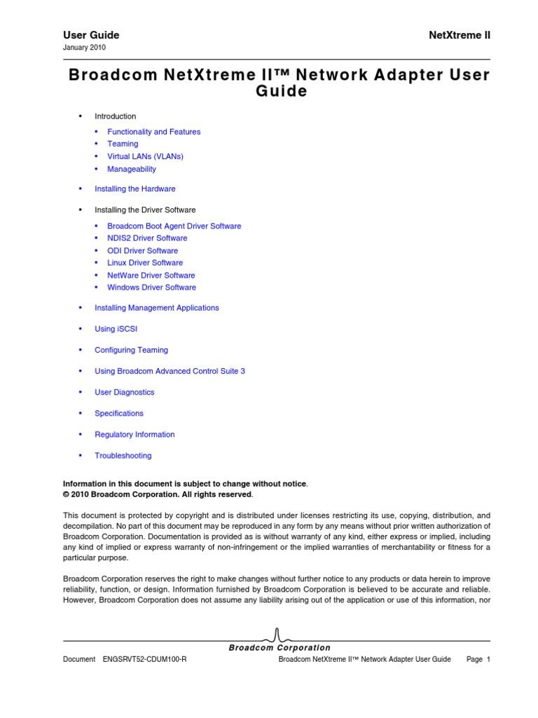 Broadcom NetXtreme II-Network Adapter User Guide | Load