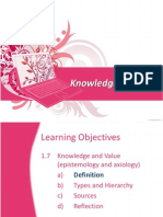 Part 1.7 - Knowledge and Values