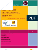 Term Report On Engro Foods & Millac Pakistan-Organizational Behavior