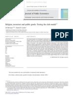 Terrorism, Religion, Public Goods