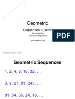 Geometric Sequence Series