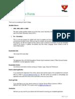 Admission Form 2013 2014