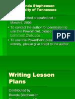 Writing Lesson Plans VL