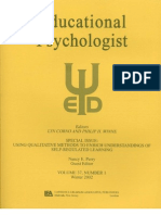 Using Qualitative Methods to Enrich Understandings of Self-Regulated Learning_A Special Issue of Educational Psychologist