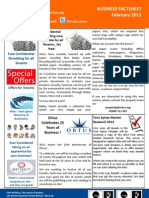 Ortus Business Factsheet February 2013