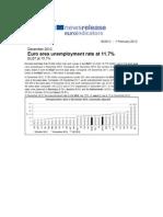 EU Unempoyment and Eurodebt Eu Ez 2012 2013