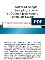 Microsoft reißt Google Email-Snooping, aber es ist Outlook jede weitere Private als Gmail?