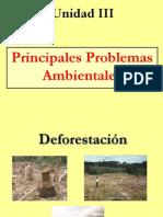 Unidad III Principales Problemas Ambientales 1
