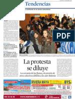 Laprotesta se diluye