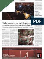 Todoslos encierros anti-Bolonia se concentran en el rectorado de laUB