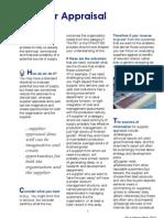 Measuring Performance - Supplier-Appraisal