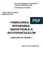 Fabricarea Si Repararea Industriala a Autovehiculelor