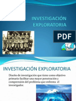 Investigación exploratoria - cualitativa