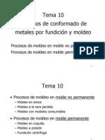 Tema 10 Procesos de Fundición