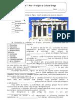 HIST 7-Ficha Formativa - Religião e Cultura Grega