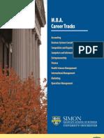 Simon MBA Career Tracks Brochure May 2010
