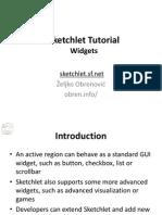 Sketchlet Tutorial - Widgets