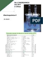Electroquimica II 23 de Mayo 2011