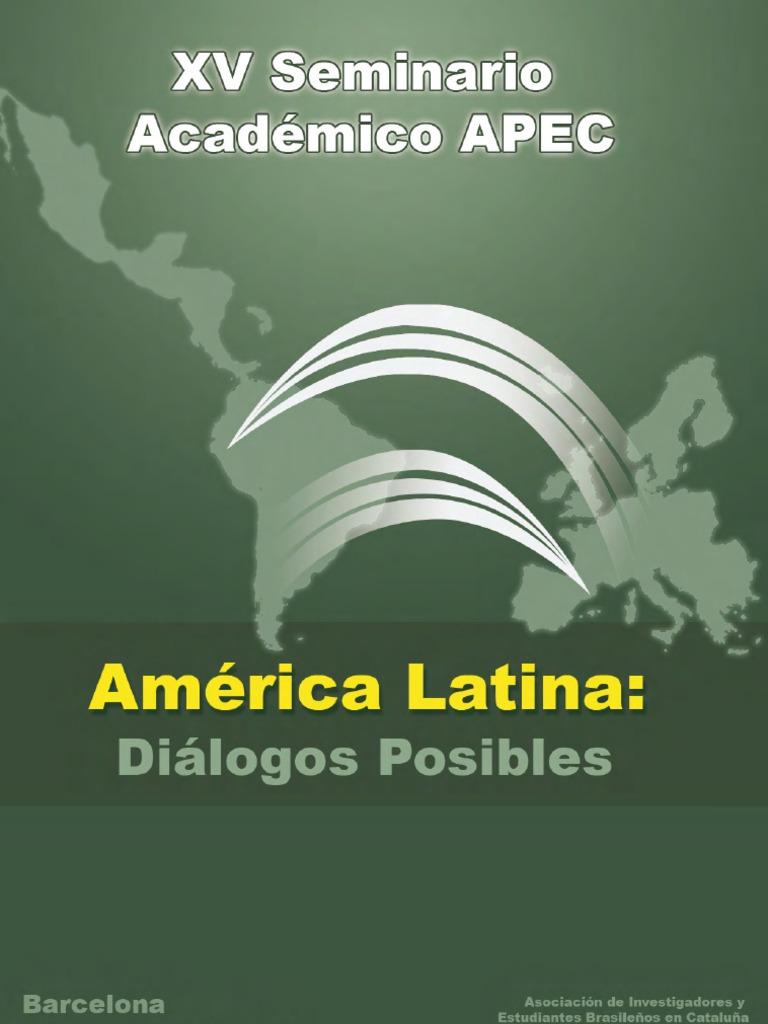 Xv seminario apec amrica latina dilogos posibles fandeluxe Choice Image