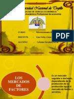 Diapositivas de Los Mercados de Factores