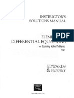 differential equations computing and modeling 4th edition solutions manual