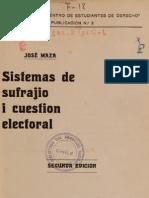 Sistemas de Sufragio y Gestion Electoral