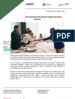 19-02-13 Boletin 1369 Reconoce Consejo Empresarial de Nayarit trabajo de Gianni Ramírez