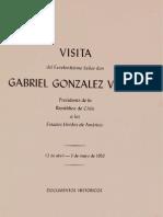 Visita de Gabriel Gonzalez Videla a Los EEUU
