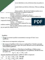 Oxidation and Equllibria