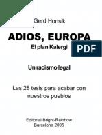 74568208 Adios Europa El Plan Kalergi Gerd Honsik