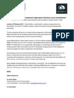Kantar Media & SecondSync Data Partnership PR