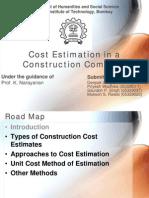 Presentation - cost estimation