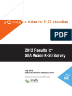 2012 Siia Vision k20 Final Report