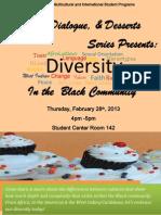 Diversity, Dialogue & Desserts Series Presents