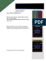 Jazz Path Harmonic Scale Exercises Treble Clef