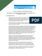 Declaración sobre el Progreso y el Desarrollo en lo Social