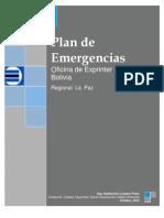 Plan Contingencias