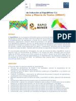 Brochure Taller de Inducción al RapidMiner 5.1 Minería de Datos y Minería de Textos (DM047)