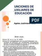 FUNCIONES DE AUXILIARES DE EDUCACIÓN
