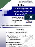 La investigación en riesgos ergonómicos