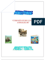 PROIECT TEMATIC  ANIMALE