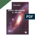 (Adrian Lemeni) Sensul Eshatologic Al Creatiei