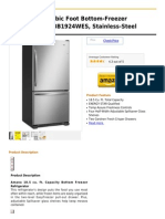 Amana 18.5 -Cubic Foot Bottom-Freezer Refrigerator, ABB1924WES, Stainless-Steel