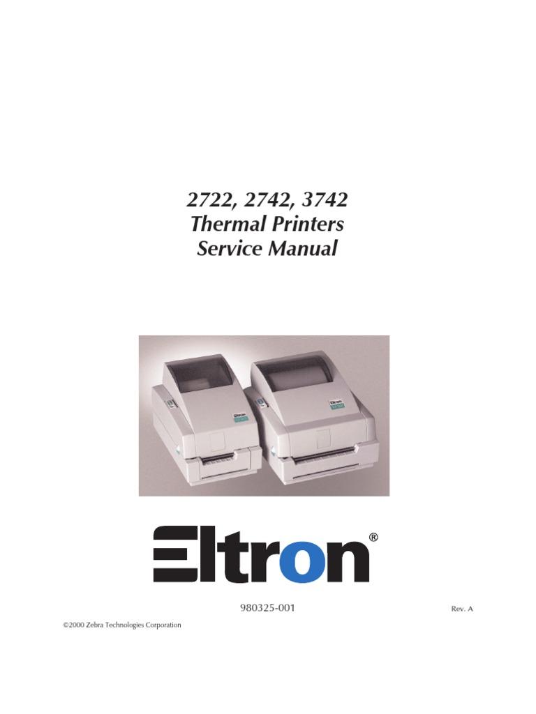 ZEBRA 27xx Service Manual   Electrical Connector   Printer (Computing)