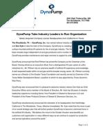 1 DynaPump Tabs Industry Leaders FINAL RELEASE