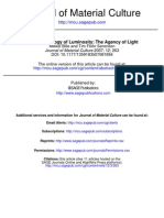 An Anthropology of Luminosity the Agency of Light